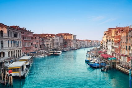 Lining the Grand Canal of Venice are hundreds of fanciful palazzos
